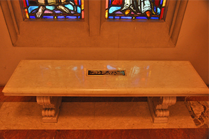 sanctuary of holy spirit bench plaque