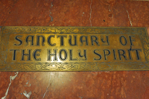 sanctuary of the holy spirit floor plaque